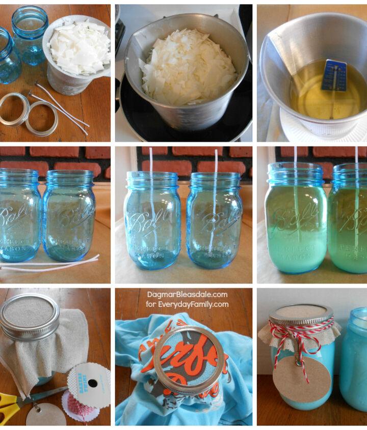DIY Mason Jar Candle tutorial