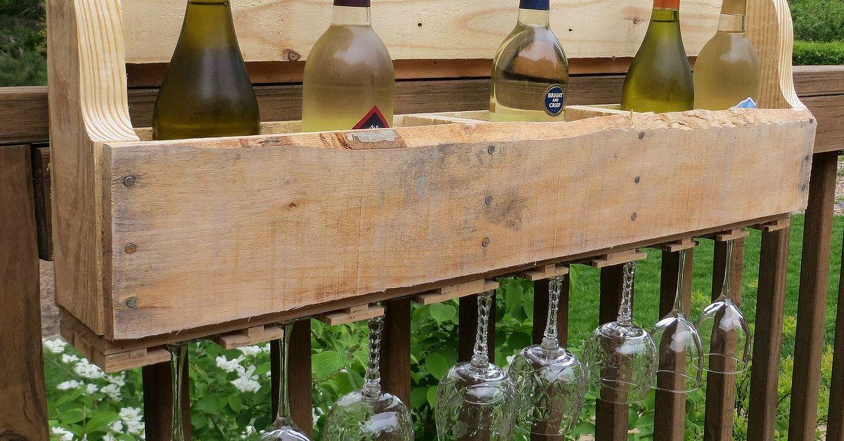 diy pallet wine rack hometalk. Black Bedroom Furniture Sets. Home Design Ideas
