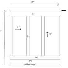 board amp batten tutorial, diy, how to, wall decor, Diagram for Kitchen Board Batten