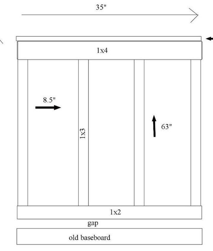 Diagram for Kitchen Board & Batten
