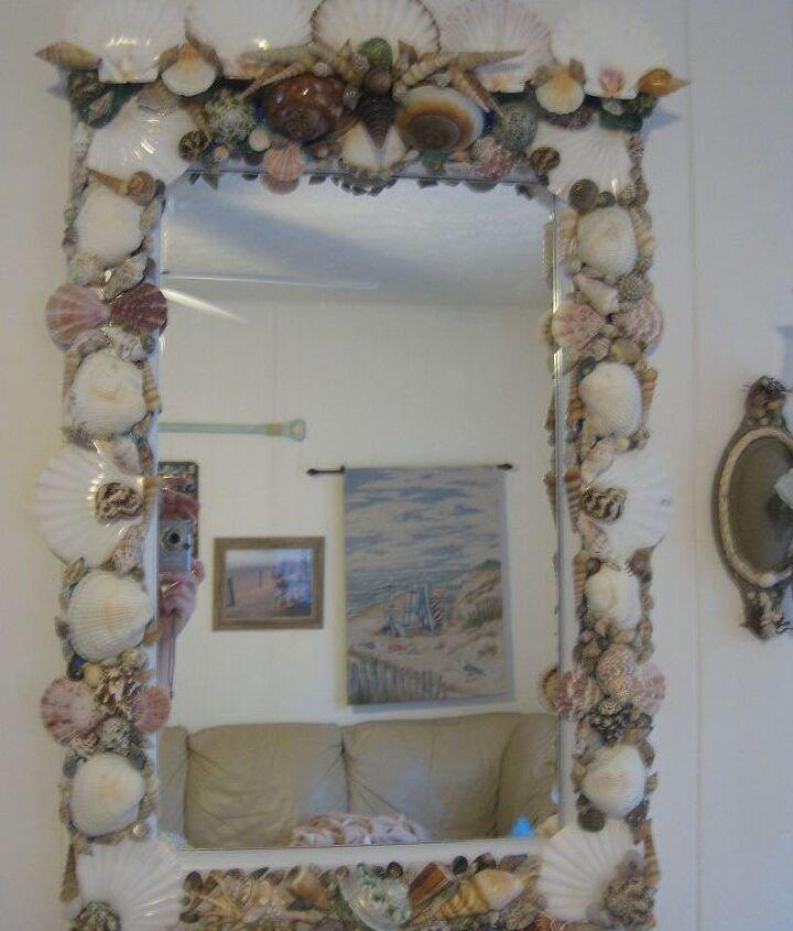 coastal mirror, crafts, home decor