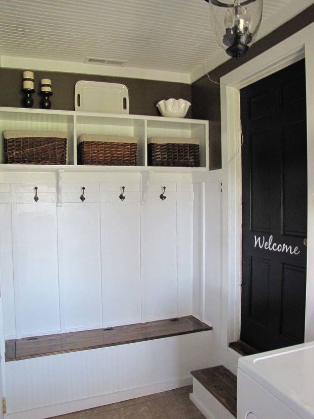 Adding a mudroom to our garage hometalk for How to add a laundry room to your house
