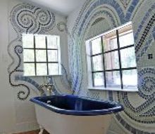 bathroom mosaic, bathroom ideas, tiling, Now I want to make mosaics everywhere