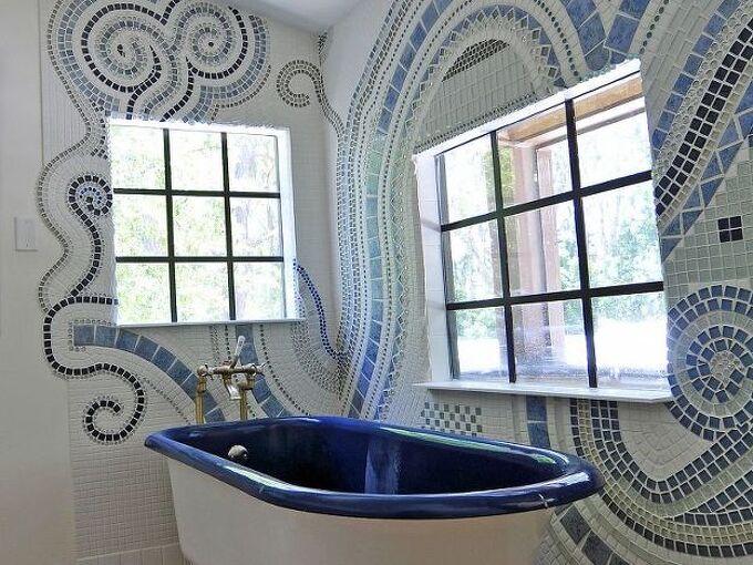 bathroom mosaic, bathroom ideas, tiling, Now I want to make mosaics everywhere