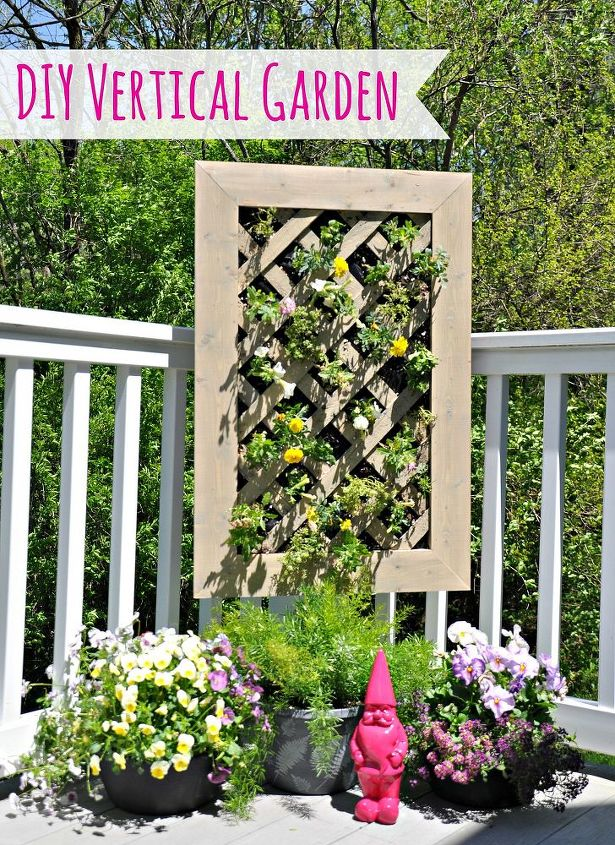 Vertical gardens are perfect for small decks or apartment dwellers.