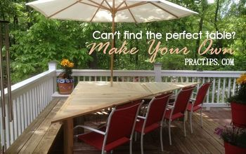 not the good enough table but the perfect table, decks, diy, outdoor furniture, painted furniture, porches, woodworking projects, What a great addition to our side porch It makes our deck more cozy with room for up to 10 people
