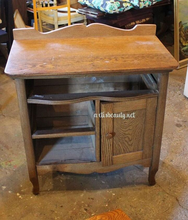 head on over to see the quick antique commode makeover, home decor, painted furniture