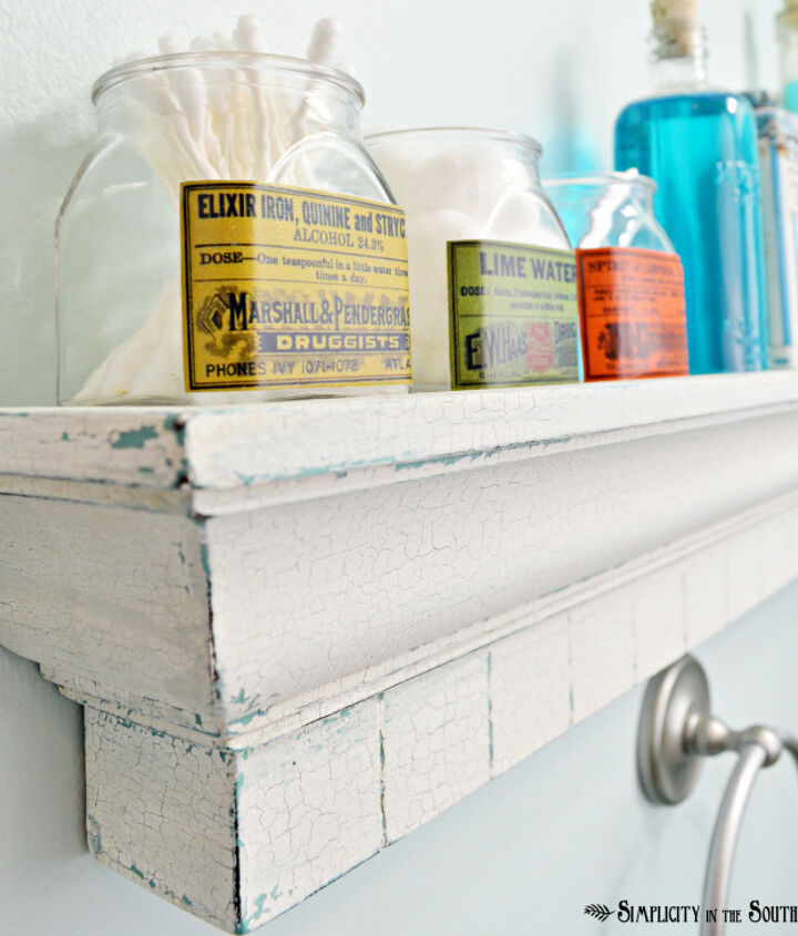 Apothecary jars made with spice jars, printable labels and Mod Podge.