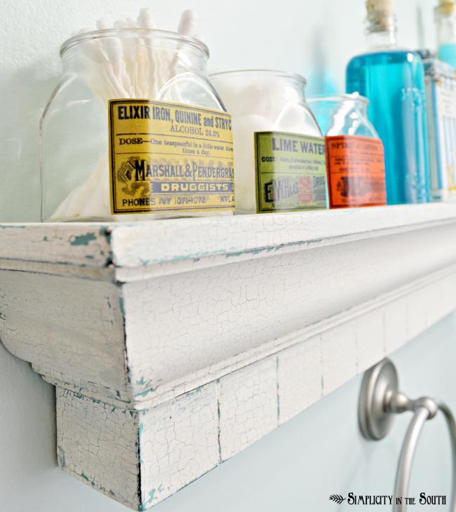 Decoupaged Vintage Apothecary Label Jars Hometalk