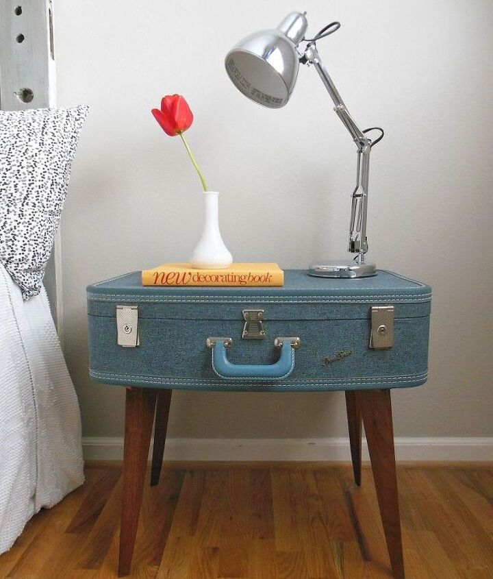 Finished suitcase side table.