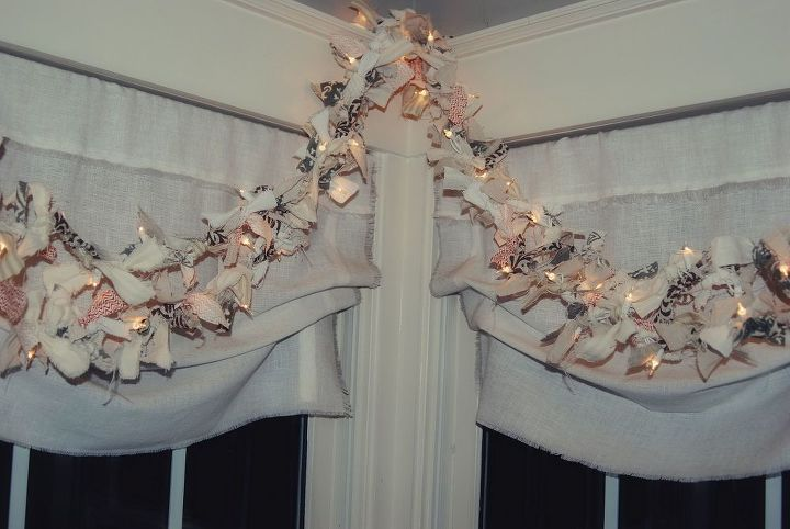lighted rag garland diy, crafts, home decor