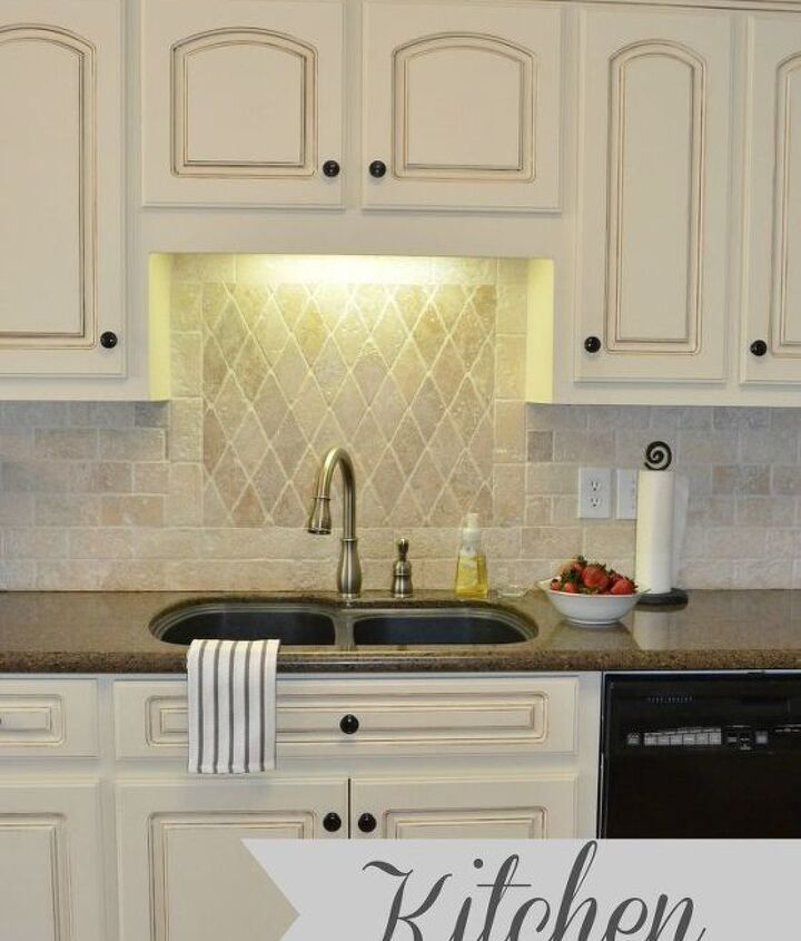 traditional kitchen tour with painted cabinets, home decor, kitchen backsplash, kitchen cabinets, kitchen design, painting