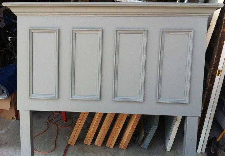 headboard gray queen size door headboard made with a slab door painted chelsea