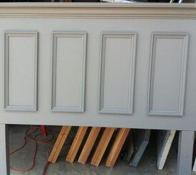 Superb Queen Size Door Headboard Made With A Slab Door Painted Chelsea Gray,  Bedroom Ideas,