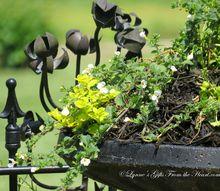 repoursing a bird bath lynnesgiftsfromtheheart com, flowers, gardening, repurposing upcycling