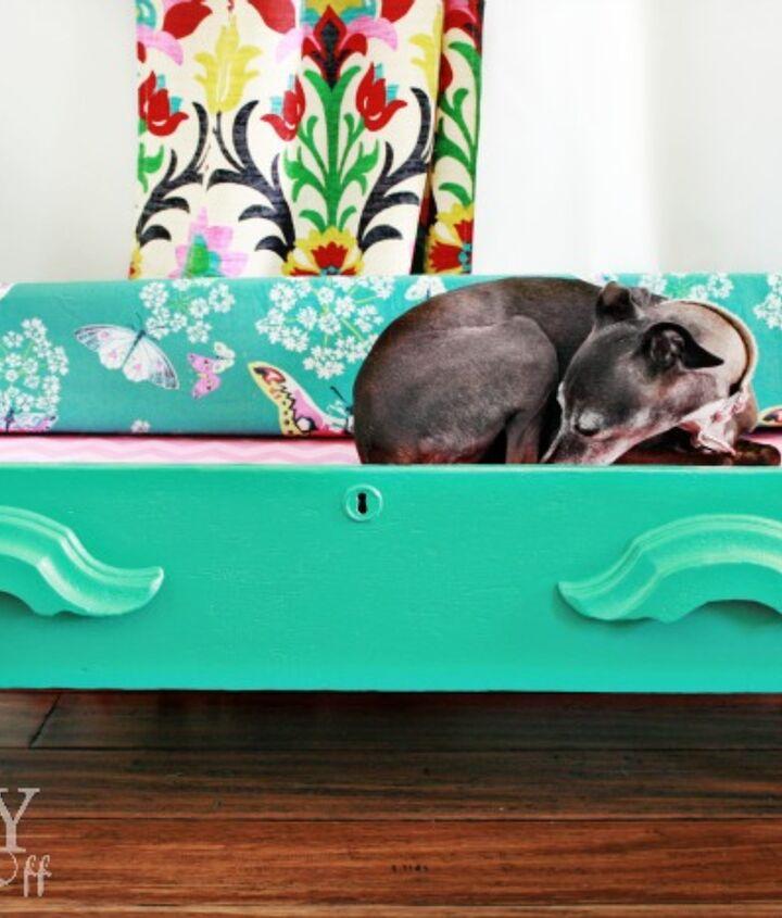 DIY {dresser drawer} dog bed - no parasol for