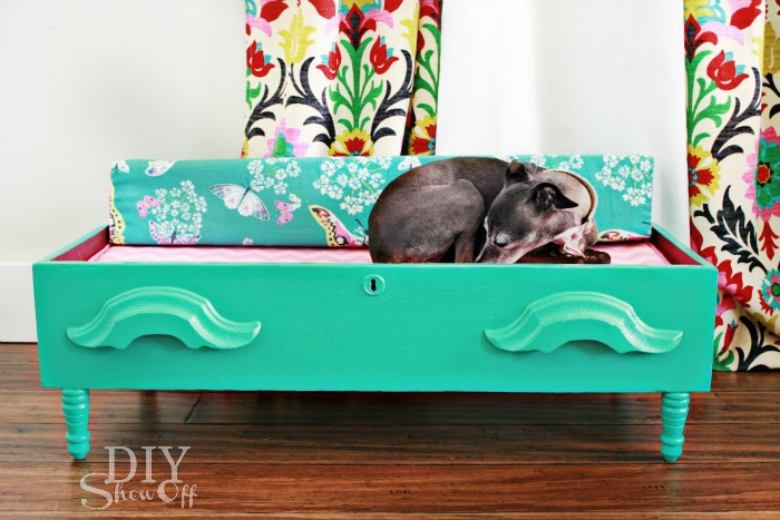 DIY {dresser drawer} dog bed - no parasol for