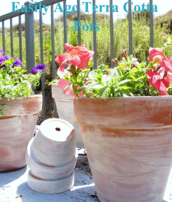 Easily age your terra cotta pots resulting in a beautiful aged patina.