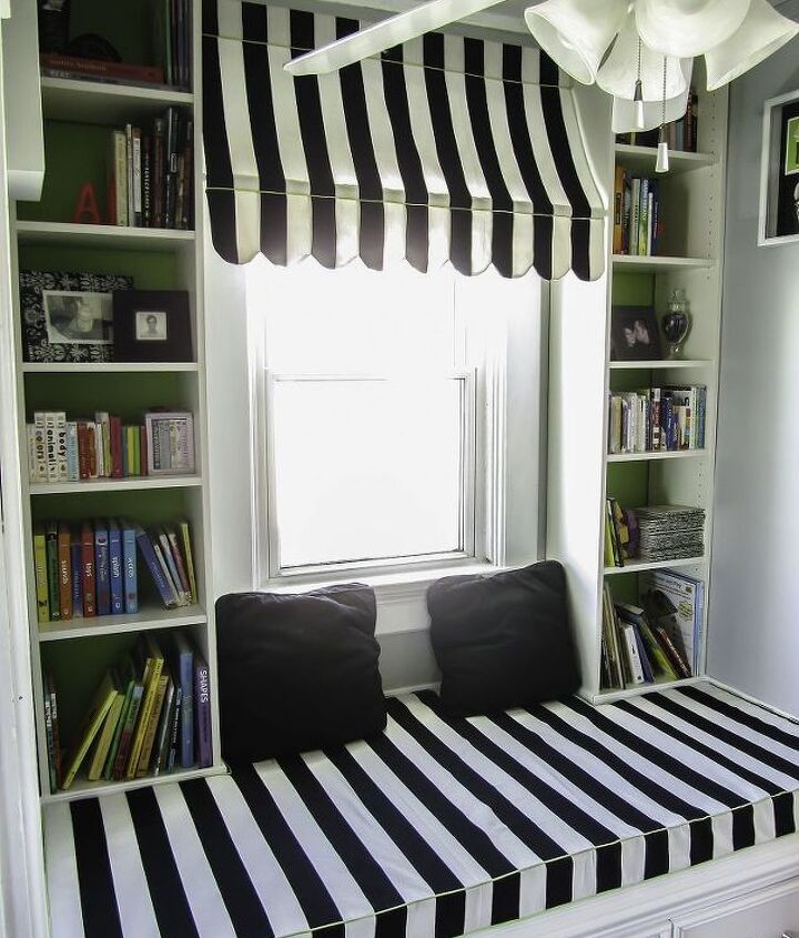 The completed window seat.