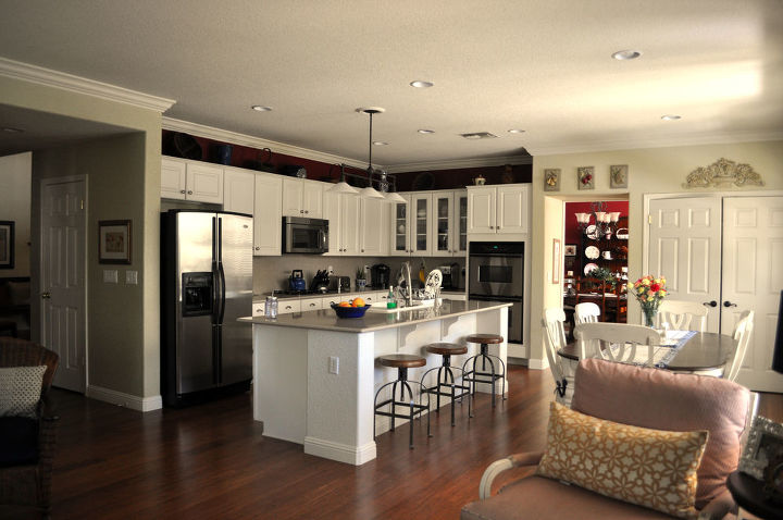 What color to paint above the kitchen cabinets | Hometalk