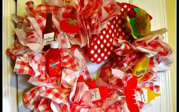 Celebrate Summer With a Picnic Paper Napking  Wreath