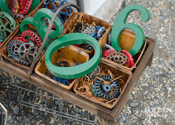 These gears and spigots are just some of the coolness that was available for purchase at the market!