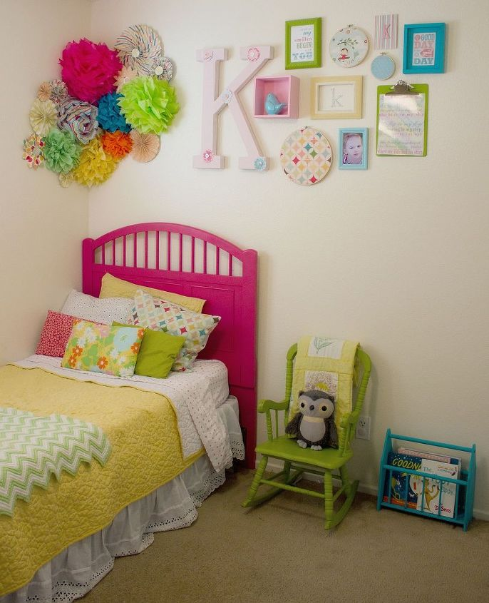 tissue paper wall flowers, bedroom ideas, crafts, home decor