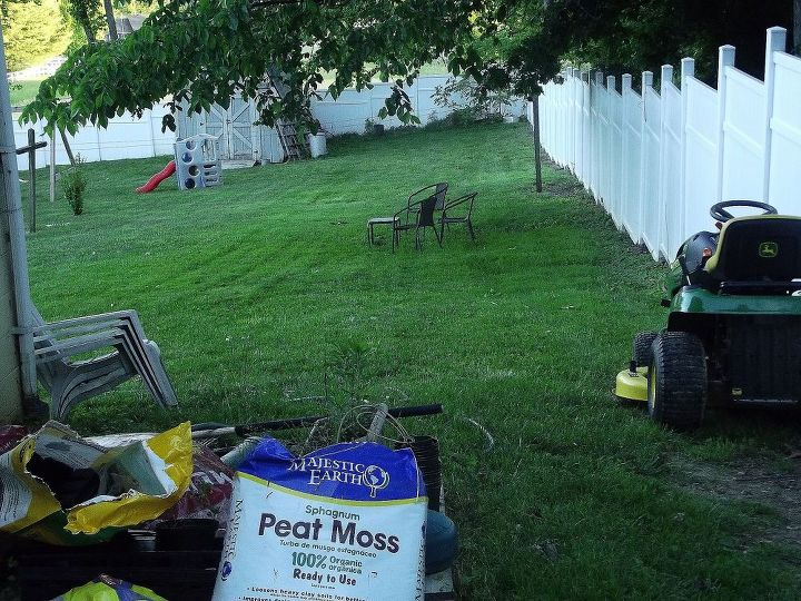 sloped backyard  diy  how to  landscape  Again excuse the mess from the. Sloped Backyard   Hometalk