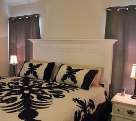 Classic One Panel Old Door Headboard For A King Size Bed, Bedroom Ideas,  Painted