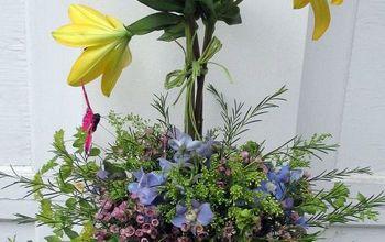 DIY  ~  Blooming Topiary