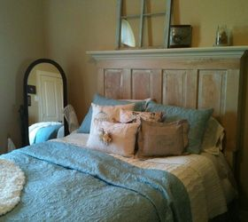 Queen Size Old Door Headboard Made On The Light Side, Bedroom Ideas,  Painted Furniture