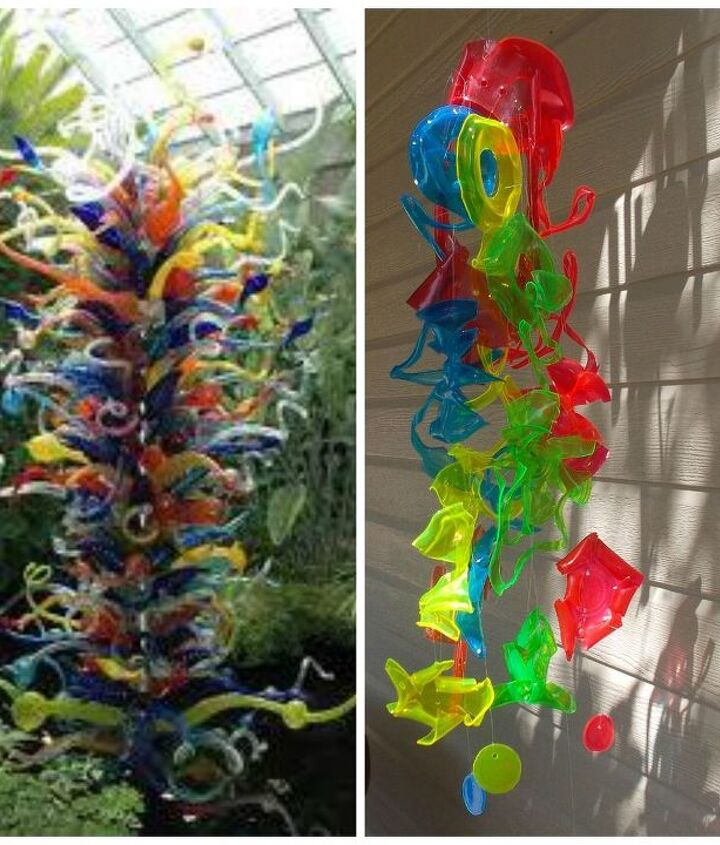 Chihuly Inspired Sun Catcher Made From Recycled Plastic Drinking