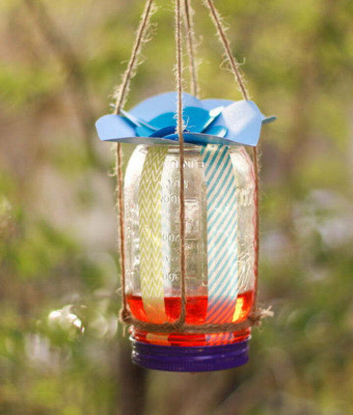 Mason jar. If you've got a spare mason jar, some twine and a piece of a sponge, you can make a DIY butterfly feeder! Encourage butterflies to visit your yard and pollinate your plants with this easy project.