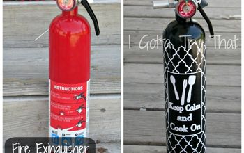 diy fun fire extinguisher make over, crafts, painting