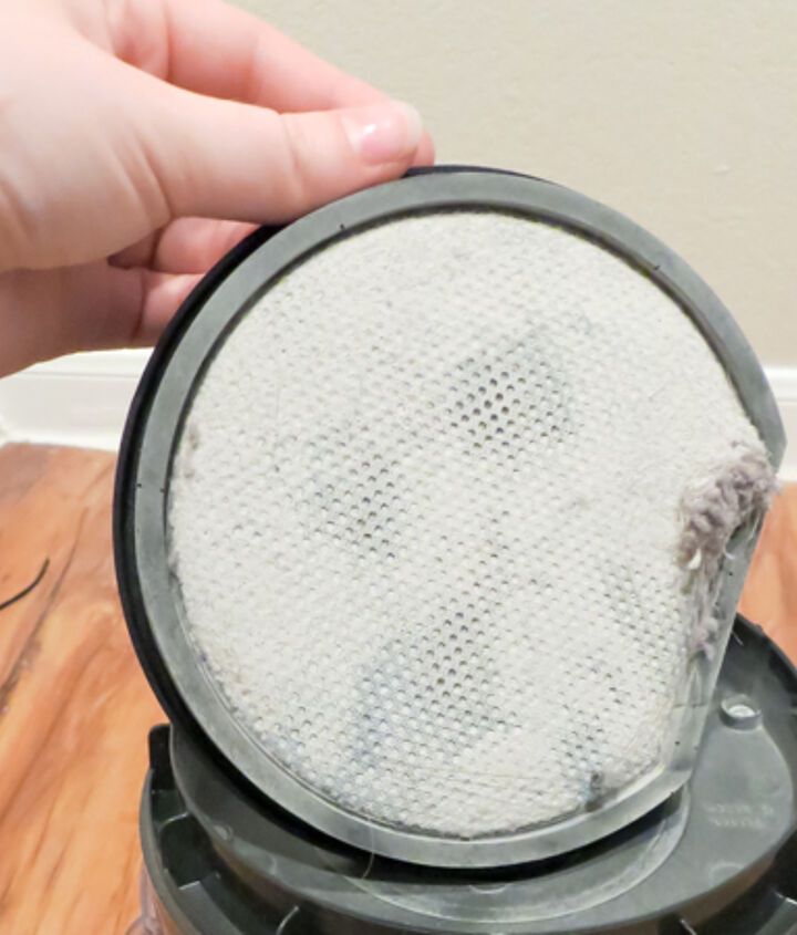 Rinse filter until water runs clear, some filters cannot get wet, check your manual for instructions.