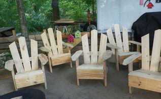 still working on pallet chairs, painted furniture, pallet, repurposing upcycling, woodworking projects, Some one say Pallet Chairs