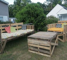 Outdoor Furniture From Pallets, Outdoor Furniture, Outdoor Living, Painted  Furniture, Pallet,