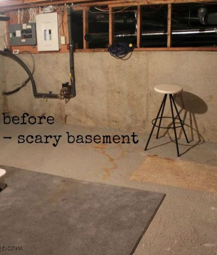 Before - scary basement
