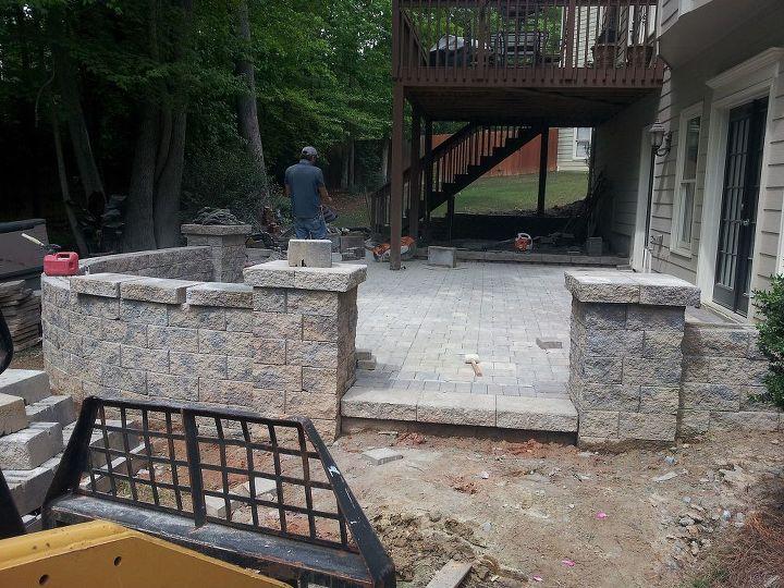 back yard patio challenge, concrete masonry, decks, outdoor living, patio
