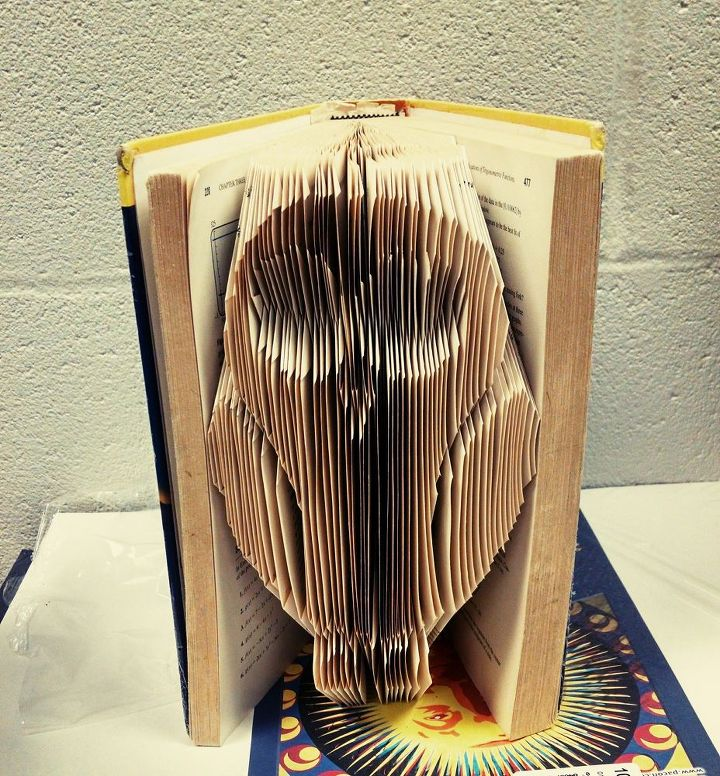how to make book folded art an owl and many more, crafts, how to, repurposing upcycling
