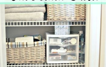 linen closet organization and a peek at my closet pharmacy, closet, home decor, organizing