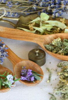 fun diy ways to preserve garden fresh foods, crafts, flowers, gardening, Dried herbs and flowers can be used in teas tonics and beauty recipes