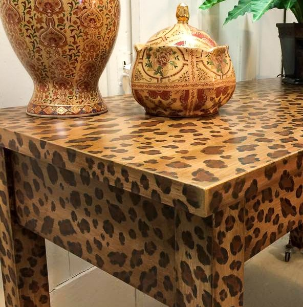 how to create a fabulous hand painted leopard print finish hometalk
