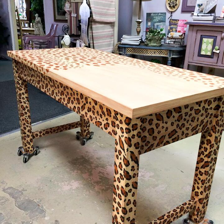 How To Create A Fabulous Hand Painted Leopard Print Finish Furniture