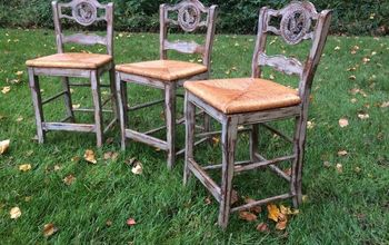 Distressed Paris Grey Bar Stools