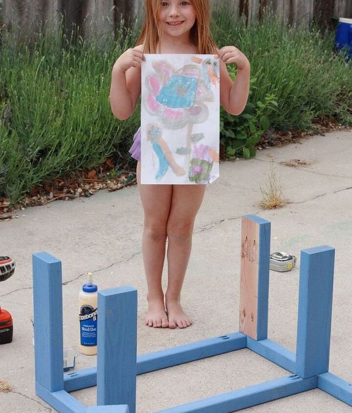 give dad the coolest father s day gift, diy, how to, outdoor living, The side frame gets assembled and my daughter paints