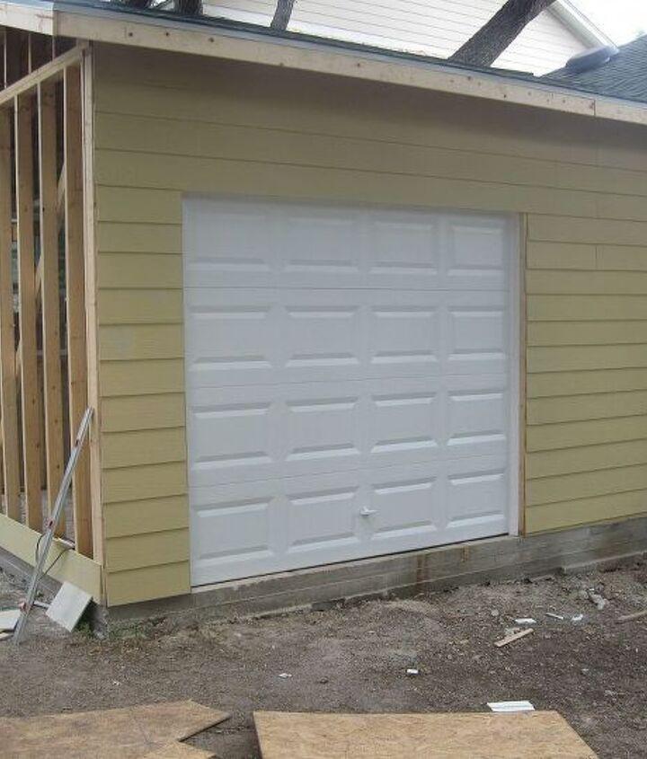 Garage door was installed
