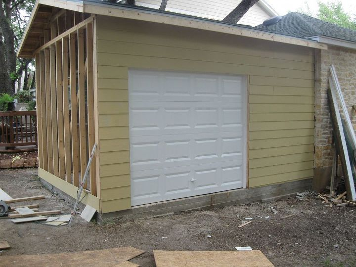 Garage door was installed