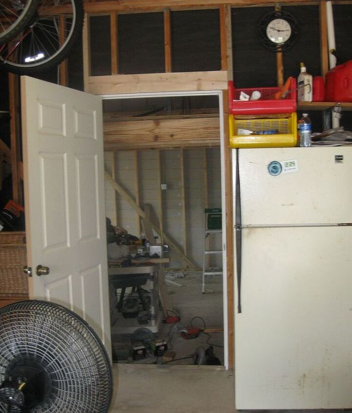 An entrance was also added thru the house garage