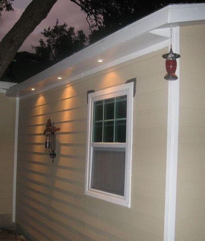 More exterior lighting